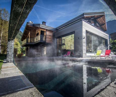 Luxury Chalet Chamonix - Heated Outdoor Swimming Pool
